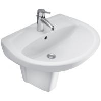 Alföldi Saval 2.0 mosdó 55x45 cm, 1 furattal középen, Easyplus bevonat, fehér 7018 55 R1