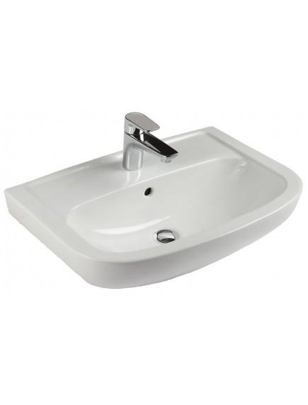 Alföldi Saval 2.0 beépíthető mosdó 60x42 cm, 1 furattal középen, Easyplus bevonat, fehér 7017 60 R1