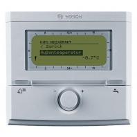 Bosch FW 500 Időjáráskövető szabályozó Bosch Heatronic ® III elektronikával szerelt kazánokhoz