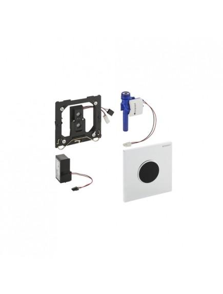 Geberit HyTronic automata vizelde vezérlés, infravörös, hálózati, Sigma10 dizájn, matt króm / fényes króm / matt króm