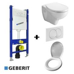 Geberit Duofix Basic WC tartály szett gipszkartonfalhoz, fehér színű