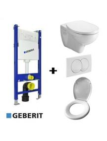 Geberit Duofix Basic WC tartály szett gipszkartonfalhoz króm nyomólappal