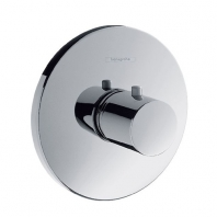 Hansgrohe Ecostat S Highflow falsík alatti termosztátos kád csaptelep színkészlet