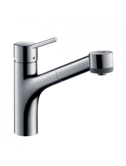 Hansgrohe Talis S2 egykaros konyhai csaptelep DN15 kihúzható zuhanyfejjel