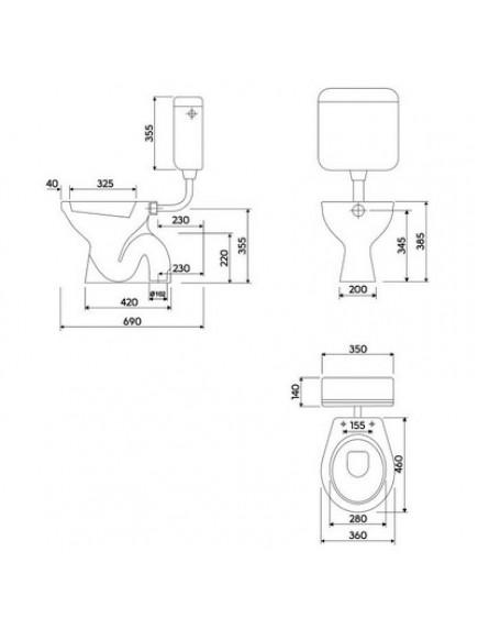Kolo Idol alsó kifolyású, mély öblítésű wc csésze