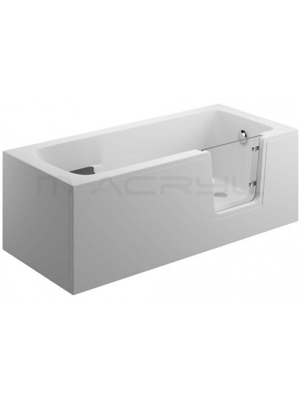 M-Acryl Héra 180x80 kád nyitható üveg ajtóval jobb + előlap