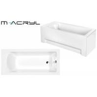 M-ACRYL Fresh kád, 160x70 cm - előlap nélkül, fehér színű