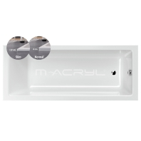 M-Acryl MIA slim kád 160x70 előlap nélküli