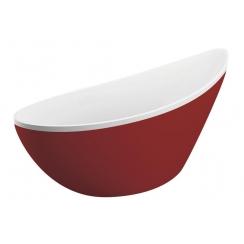 M-Acryl PARADISE szabadon álló kád, piros 180x80