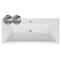 M-Acryl SABINA slim 2 személyes kád 180x80 előlap nélküli