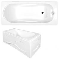M-ACRYL Sortiment kád, 160x75x40 cm - előlap nélkül, fehér színű