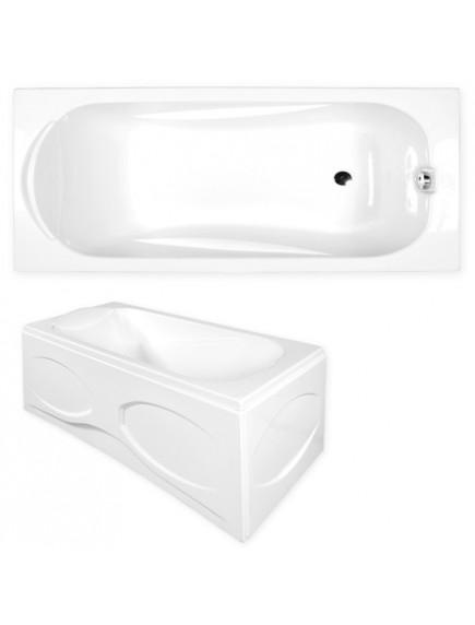 M-Acryl Sortiment kád, 150x75x40 cm - előlap nélkül, fehér színű
