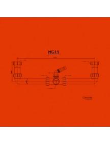 """Mc Alpine HC11 mosogató bekökő 6/4""""x40mm, tömlő csatlakozóval, 2 medencés, szifon nélkül"""