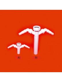 """Mc Alpine HC14 mosógépbekötő iker csatlakozó, 6/4""""x40mmxL=120mm"""