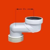 Mc Alpine HC WC bekötő excenter, 8cm elhúzással