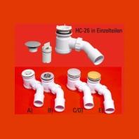 Mc Alpine HC zuhanytálca szifon 40/50+ 72mm, króm leeresztővel
