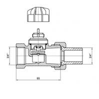 """Mofém FVR-N 20 egyenes radiátorszelep, 3/4 """""""