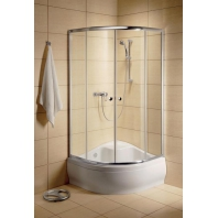 Radaway Classic A800 zuhanykabin 800x800x1700 mm, króm profillal, átlátszó üveggel