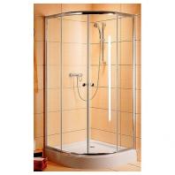 Radaway Classic A800 zuhanykabin 800x800x1850 mm, króm profillal, grafit üveggel