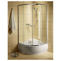 Radaway Classic A900  zuhanykabin 900x900x1700 mm, króm profillal, barna üveggel