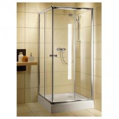 Radaway Classic C800 zuhanykabin 800x800x1850 mm, króm profillal, átlátszó üveggel 30060-01-01