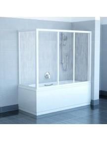 RAVAK APSV - 75 fix oldalfal kádparavánhoz  - transparent üveggel - fehér kerettel (1 DB FIX OLDALFAL!)