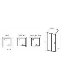 RAVAK Blix zuhanyajtó BLDP2-120, krómhatású kerettel + Transparent üveggel