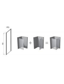 RAVAK Pivot PPS-80, fix oldalfal, krómhatású szegély + transparent üveg