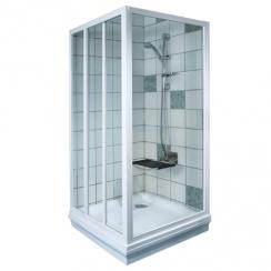 RAVAK APSS - 75 fix zuhanykabin oldalfal - transparent üveggel - fehér kerettel (1 DB ZUHANYKABIN OLDALFAL!)