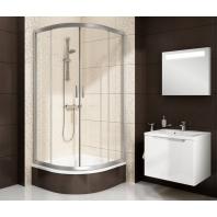 RAVAK Blix BLCP4-80 négyrészes negyedköríves zuhanykabin, krómhatású keret és Transparent üveg