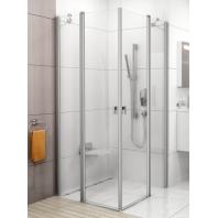 RAVAK Chrome CSKK4-80 zuhanykabin, fehér keret és transparent üveg