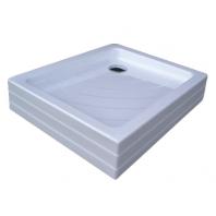 RAVAK kaskada ANETA PU zuhanytálca, 75,5x90,5x18,5 cm, fehér