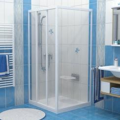 RAVAK PSS - 90  fix zuhanykabin oldalfal - pearl műanyag - fehér kerettel (1 DB ZUHANYKABIN OLDALFAL!)
