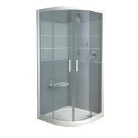 RAVAK Rapier NRKCP4 - 80, negyedköríves zuhanykabin - transparent üveggel- szatén kerettel