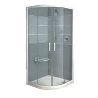 RAVAK Rapier NRKCP4 - 90, negyedköríves zuhanykabin - transparent üveggel - szatén kerettel