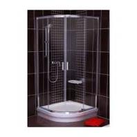 RAVAK Blix BLCP4 90 négyrészes, íves zuhanykabin- transparent üveggel - fehér kerettel