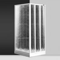 Roltechnik SaniPro LSB / 850 zuhanyfal, polisztirol betéttel, 800-860mm, magasság 1800mm, fehér profillal