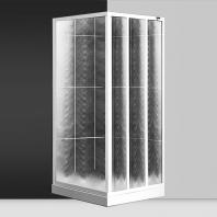 Roltechnik SaniPro LSB / 900 zuhanykabin, grape üveggel, 860-920mm, magasság 1800mm, fehér profillal