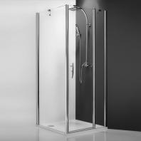 Roltechnik TB/900 silver oldalfal, transparent üveggel, 875-890mm, magasság 2m, ezüst profillal
