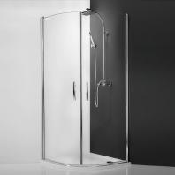 Roltechnik TR1/1000 silver zuhanykabin, transparent üveggel, 970-990mm, ezüst profillal