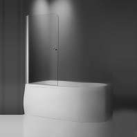 Roltechnik TV1/700 silver, kádparaván, transparent üveggel, 700x620 mm,magasság 1,4 m, ezüst profillal