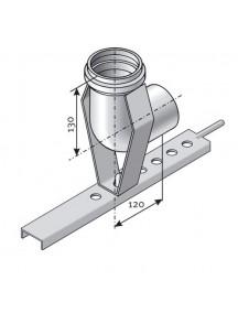 Tricox SDHT 80/80 alu bekötő könyök tartósínnel
