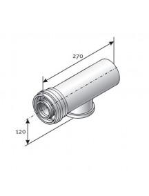 Tricox ellenőrző egyenes idom, kondenzációs l = 270mm