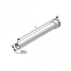 Saunier Duval egyenes hosszabbítócső, l = 1000 mm