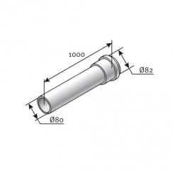 Saunier Duval egyenes hosszabbítócső, l = 1000mm