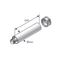 Saunier Duval egyenes hosszabítócső l = 500mm, SDH 60/100