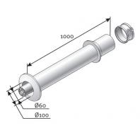 Saunier Duval egyeneskivezető készlet l = 1000mm, DH 60/100