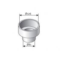 Saunier Duval egyesítő elem, szűkitő, 125/80mm