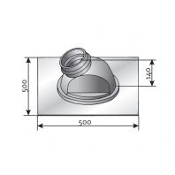 Saunier Duval ferdetető szigetelőelem, 5?25° hajlásszögű tetőszerkezethez, fekete