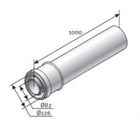 Saunier Duval hosszabbítócső, l = 1000 mm, átmérő 125/80 mm